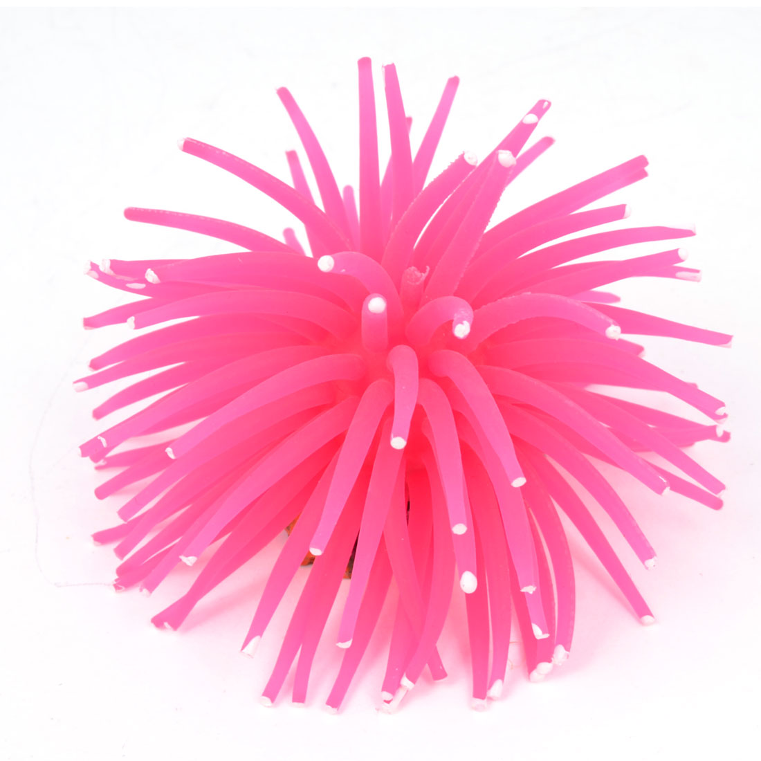 Aquarium Tank Fuchsia Silicone Simulation Mini Sea Anemone Ornament