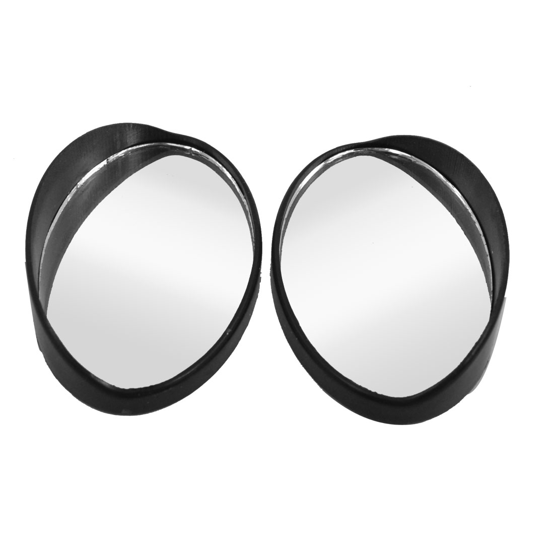 Car Vehicle Arch Wide Angle Convex Blind Spot Mirror Black 57mm x 35mm