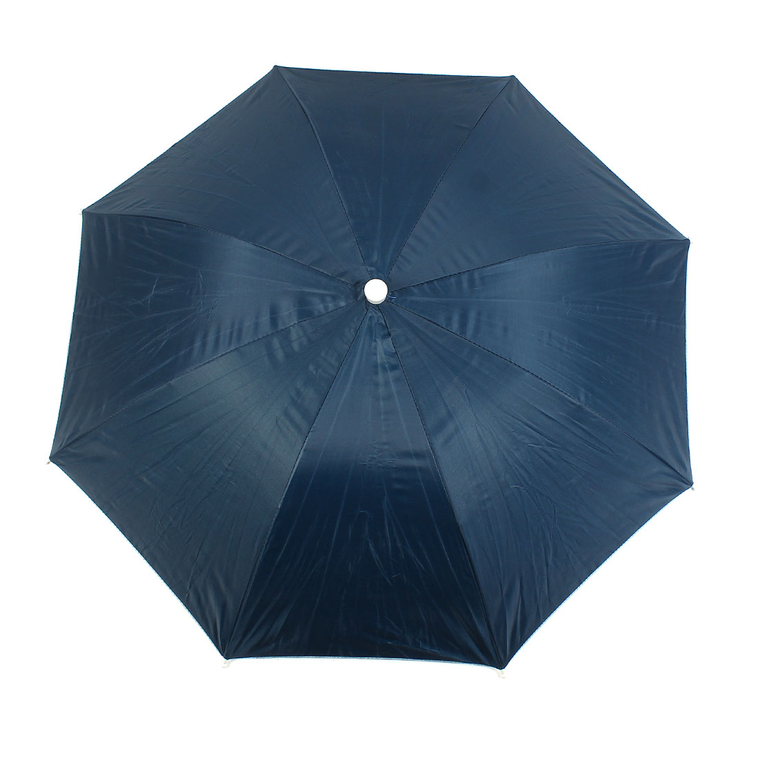 Outdoor Fishing Adjustable Band Folded Rain Sun Umbrella Hat Dark Blue