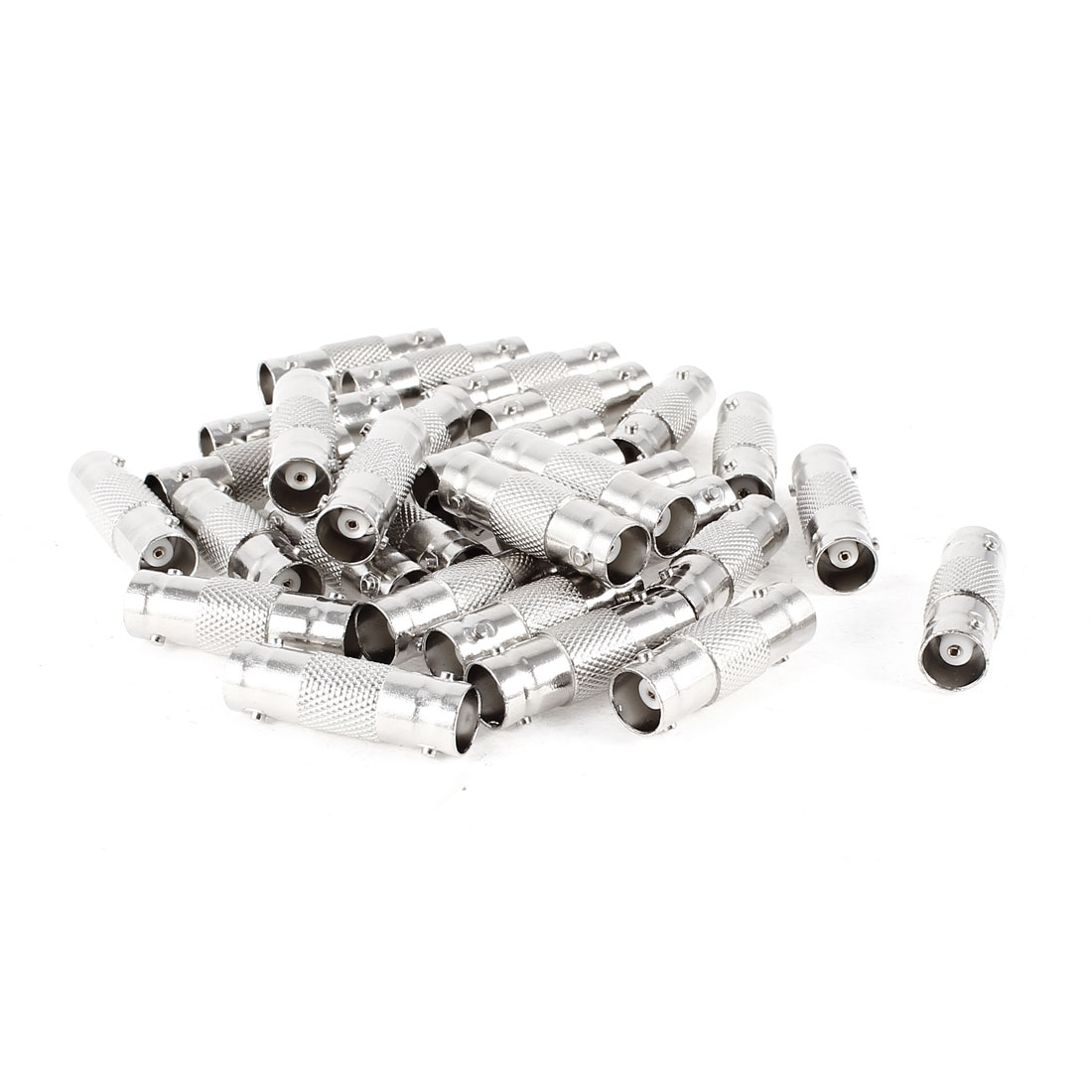 30 Pcs Silver Tone BNC Female Jack to BNC Female F/F Connector Adapter