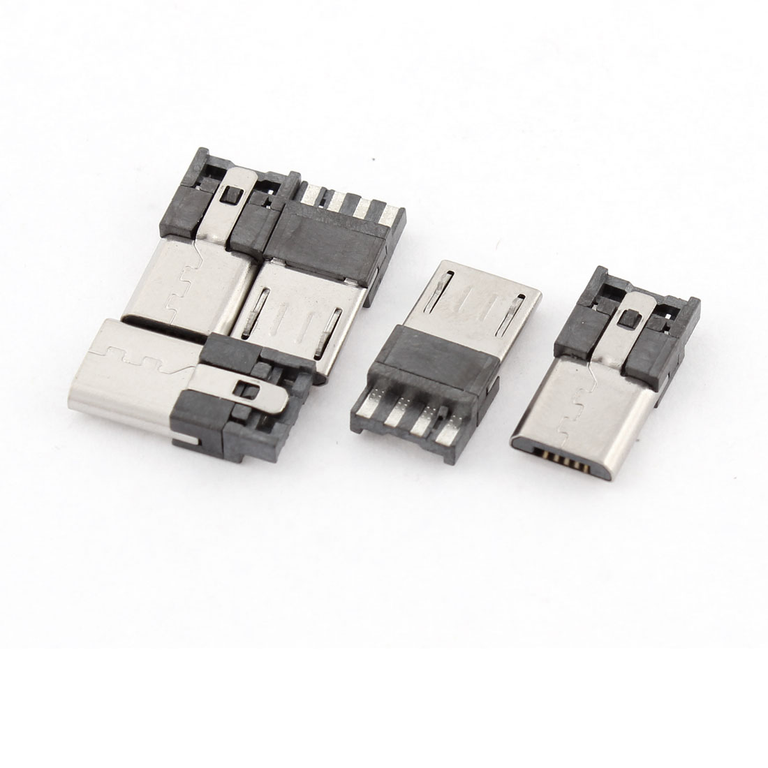 5 Pcs Type B Micro USB Male 5 Pin Jack Port Socket Connector Repair Parts