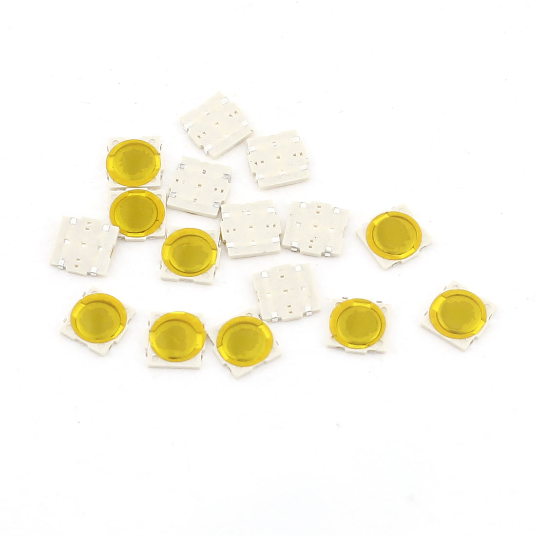 15 Pcs DC 50V 1A 4mmx4mmx0.5mm SMD PCB Momentary Tactile Tact Push Button Switch
