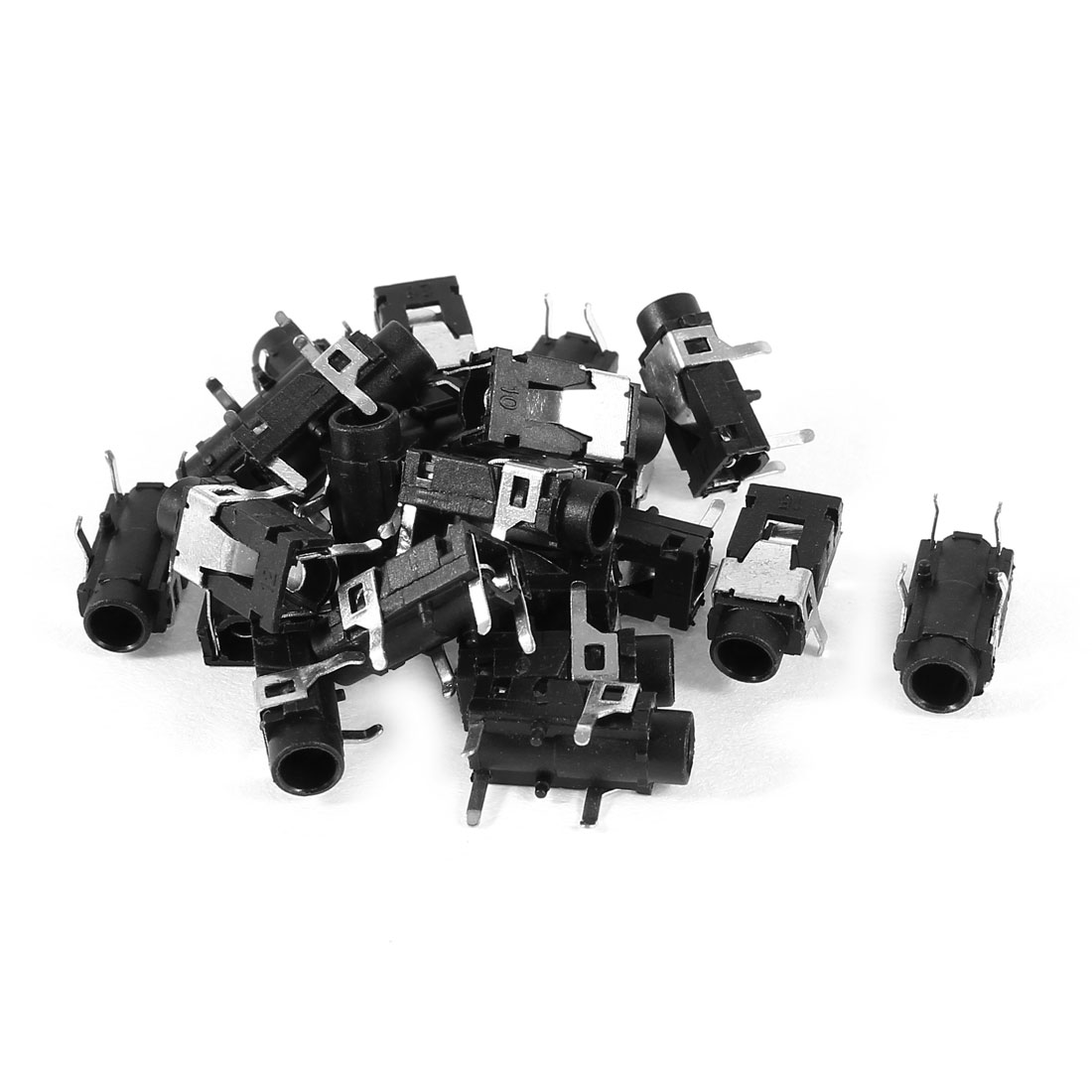 Earphone 4 Pin 3.5mm SMD PCB Mount Female Stereo Socket Connector 20pcs