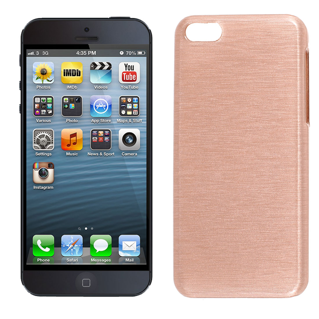 Pink Plastic Hard Back Case Protector for iPhone 5 5G 5S