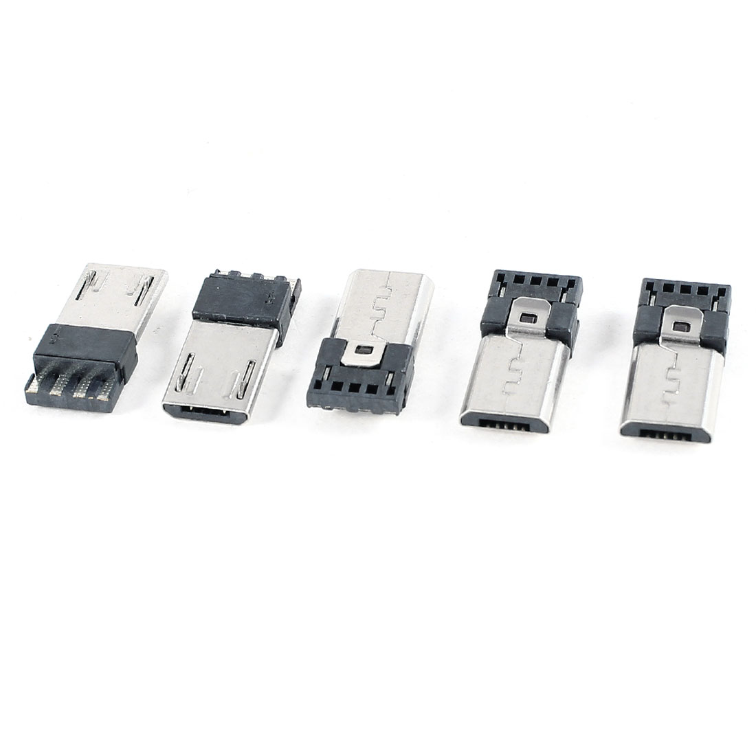 5pcs USB Micro Type-B 5pin Male Jack Connector Solder PCB Mount Socket