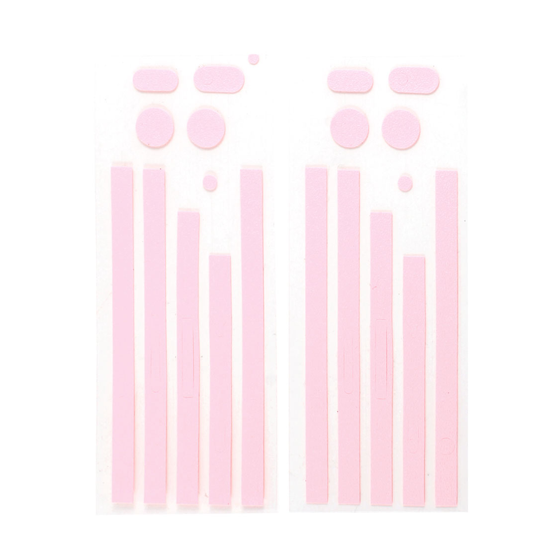 2 Pcs Pink Front Back Side Wrap Decal Skin Edge Sticker Set for iPhone 4 4G 4S