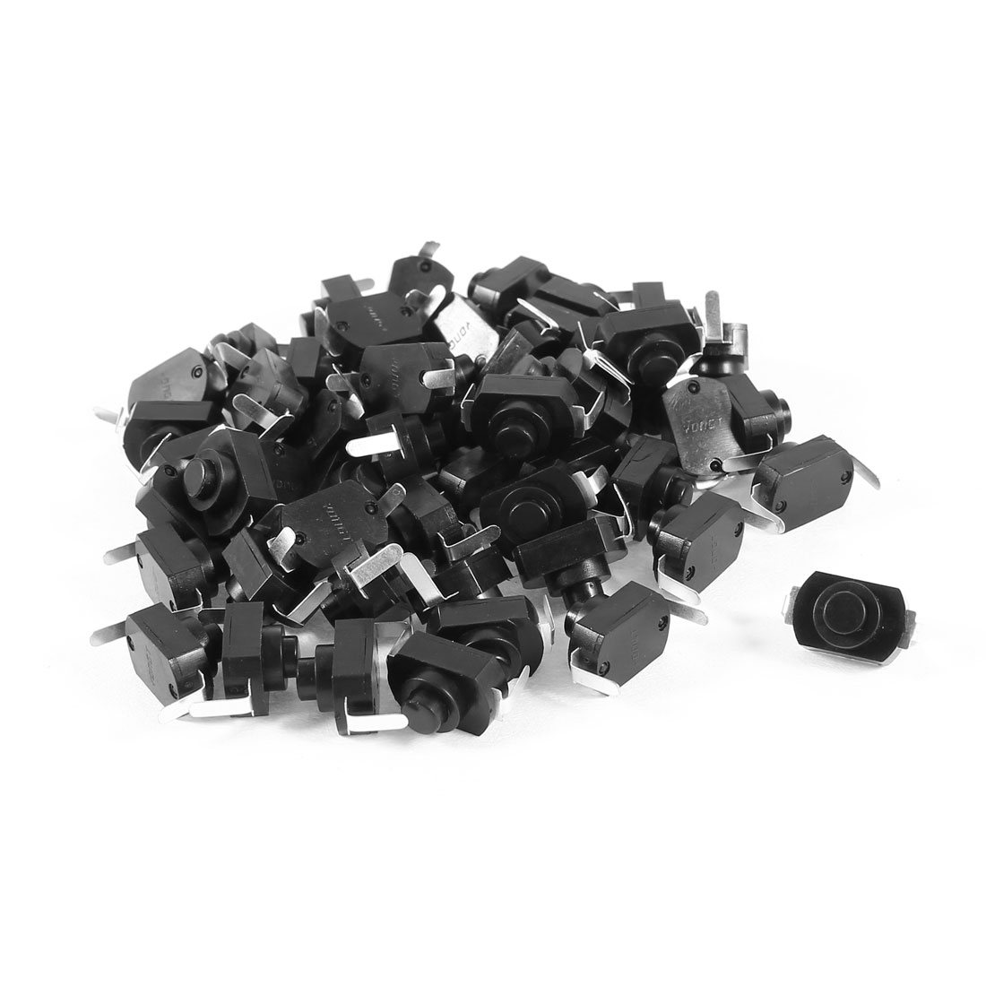 50 Pcs AC 125V 1.5A Vertical Latching Torch Push Button Switch