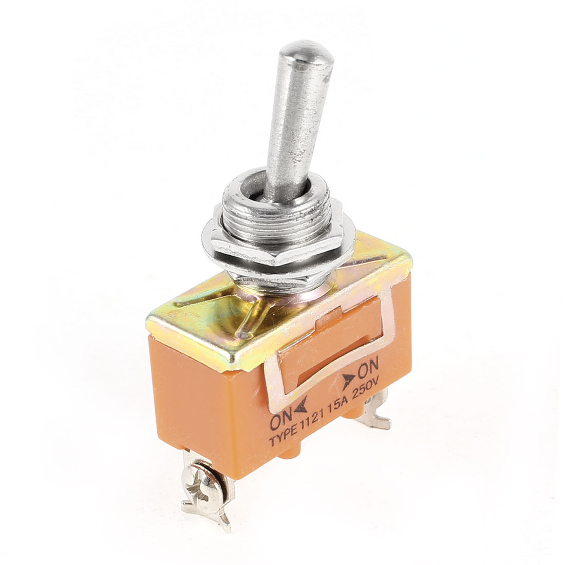 AC 250V 15A On/On 2 Position DPDT Toggle Switch Orange Replacement