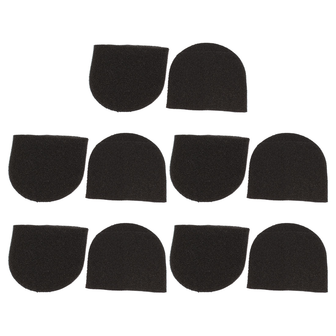 10 Pcs Karaoke DJ Microphone Mic Windscreen Sponge Cover Sleeve Black
