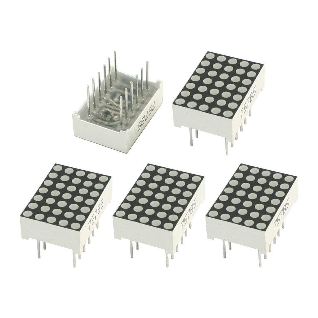 5pcs Lattice 7x5 Dots 12Pin Common Anode Red LED Digital Display