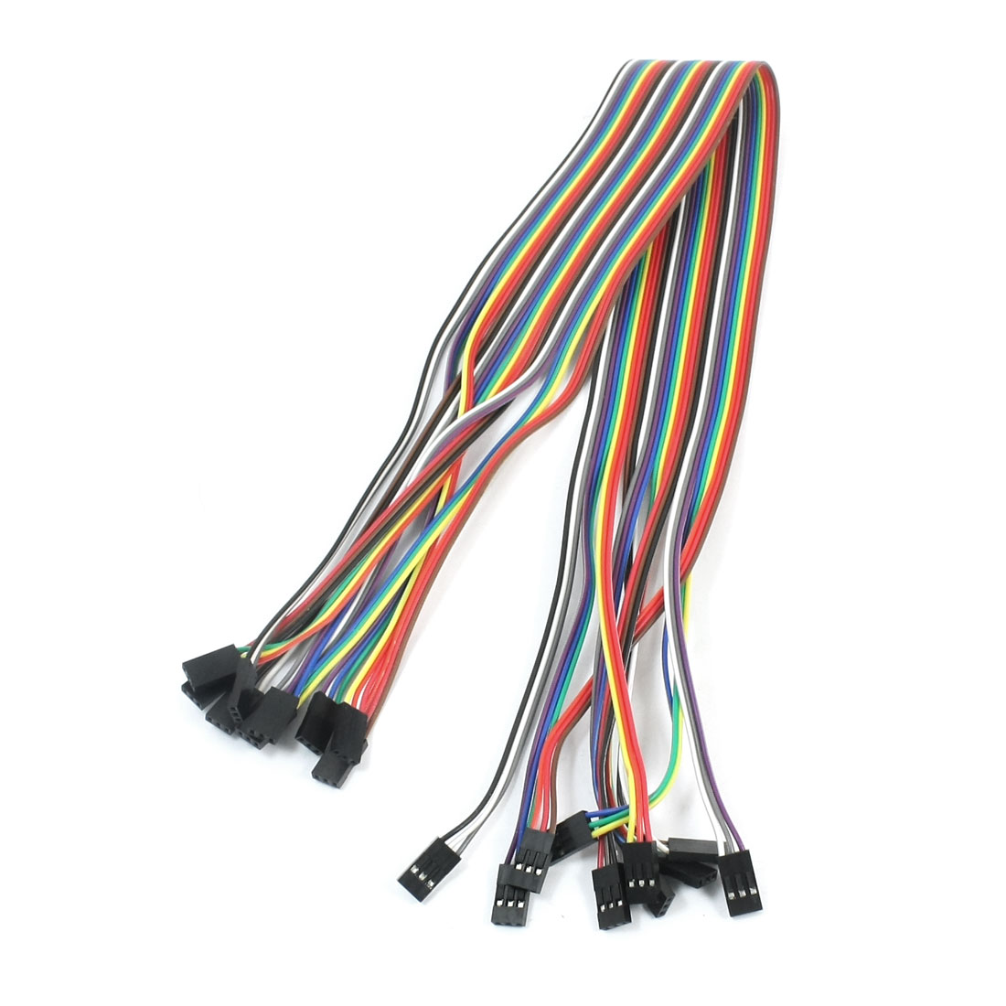 10pcs 3P-3P Female to Female Breadboard Connect Test Jumper Cable Wire 50cm