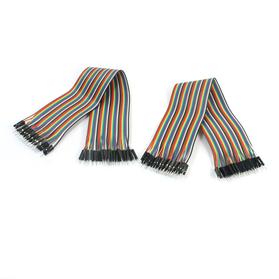 80pcs 30cm 2.54mm 1P-1P Male to Male Flexible Jumper Wire Cable Line Ribbon