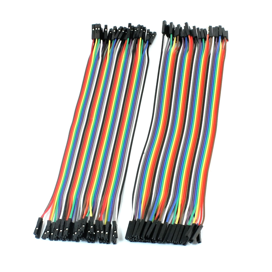 80pcs 20cm 2.54mm 1P-1P Female to Female F/F Connect Jumper Wire Cable Line