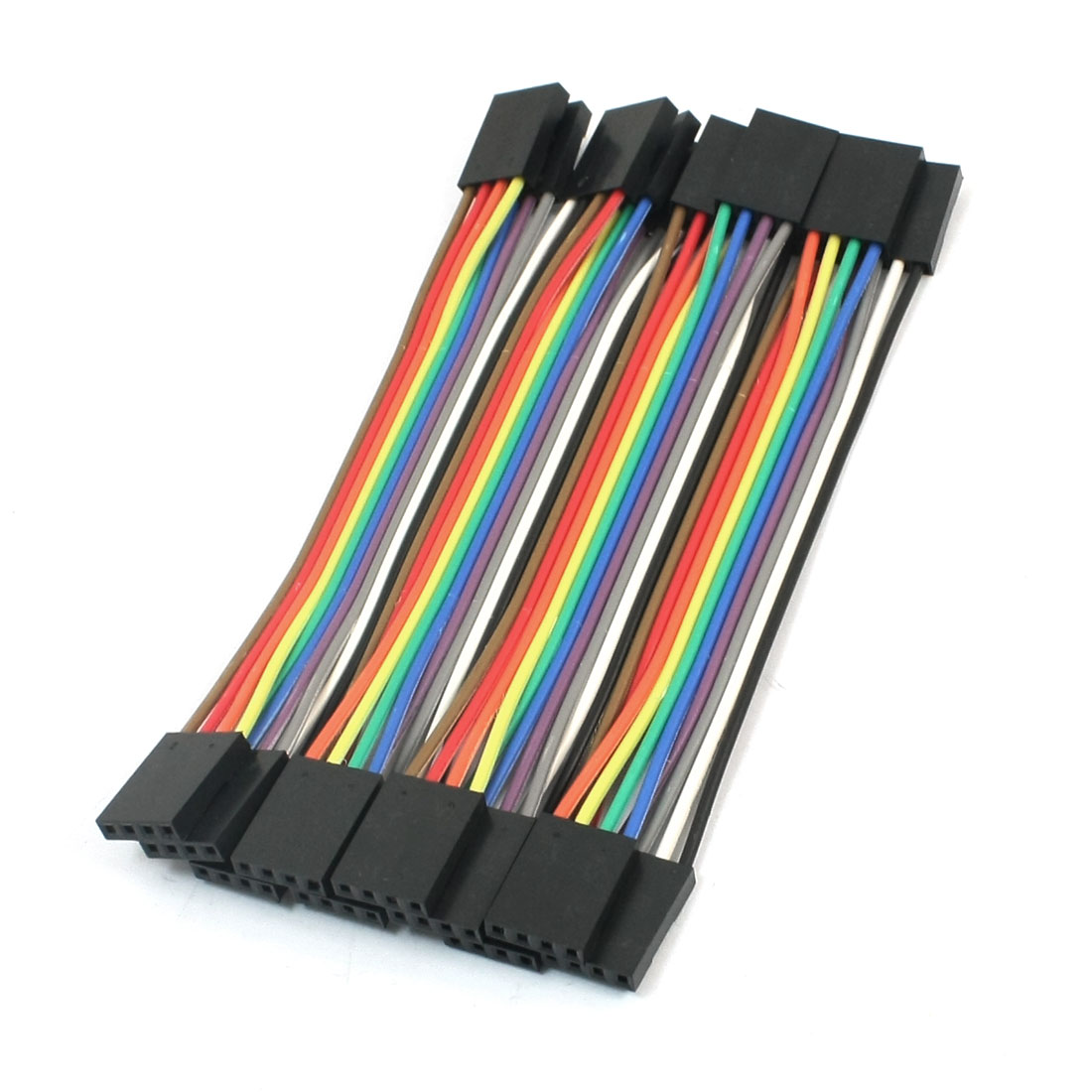 10pcs 2.54mm Pitch 4Pin-4Pin F/F Solderless Jumper Cable Wire Connector 10cm