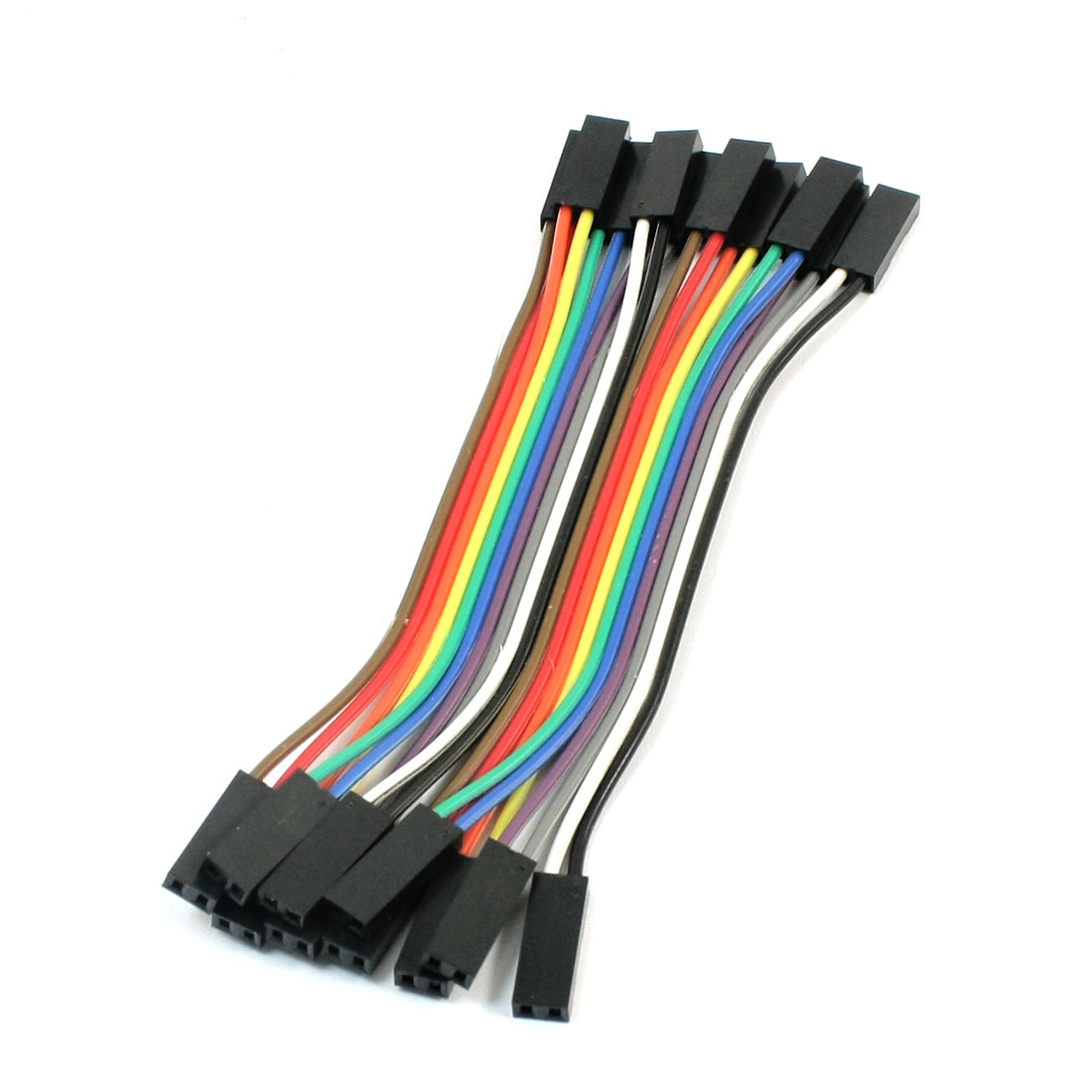 10pcs 10cm 2.54mm 2P-2P Female to Female F/F Connect Jumper Wire Cable Line