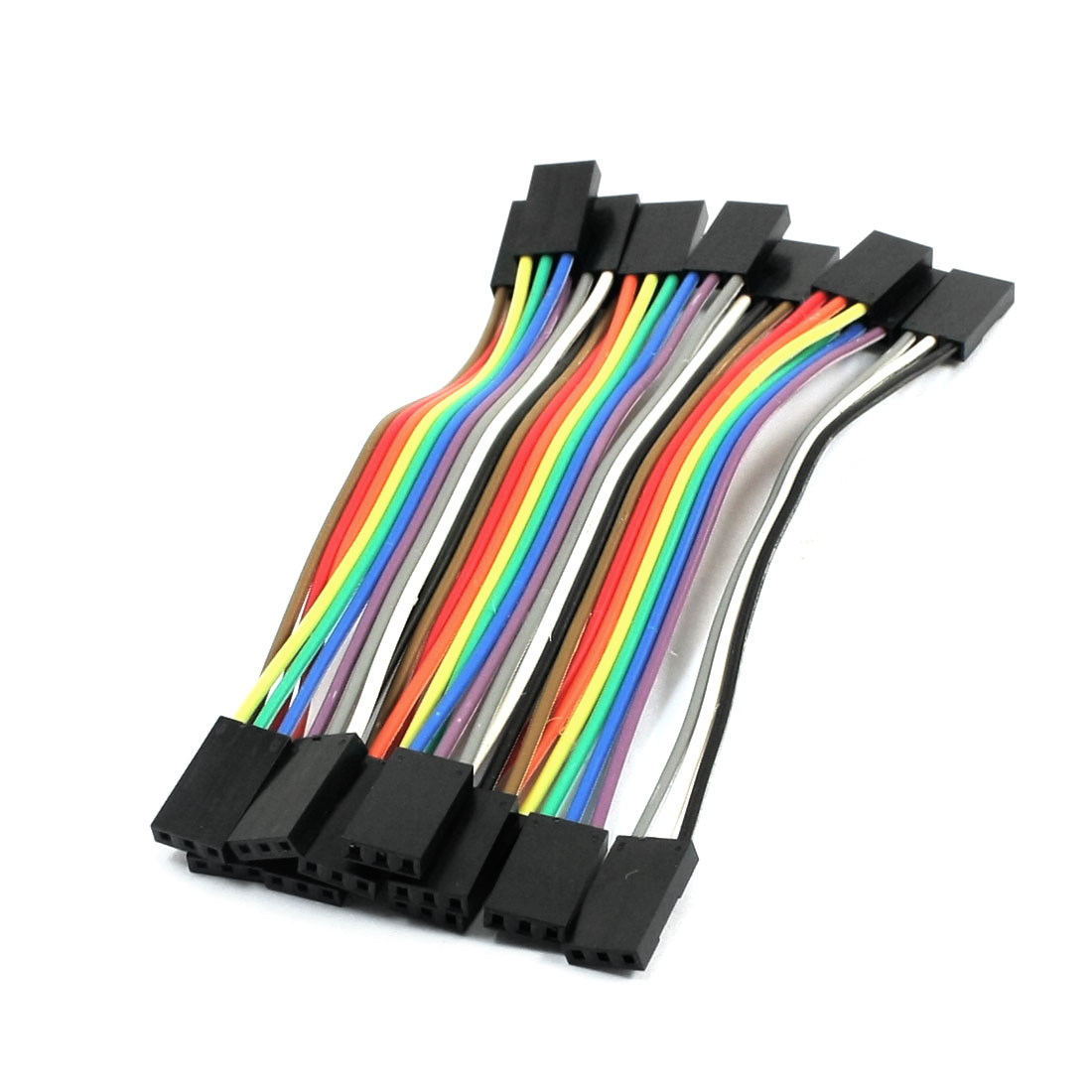 10pcs 3P-3P Female to Female Breadboard Connect Test Jumper Cable Wire 10cm