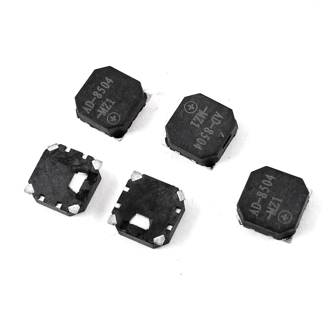 5pcs 8.5mm x 8.5mm x 3mm Square Shape SMD Passive Buzzer Black DC 3.6V 90mA