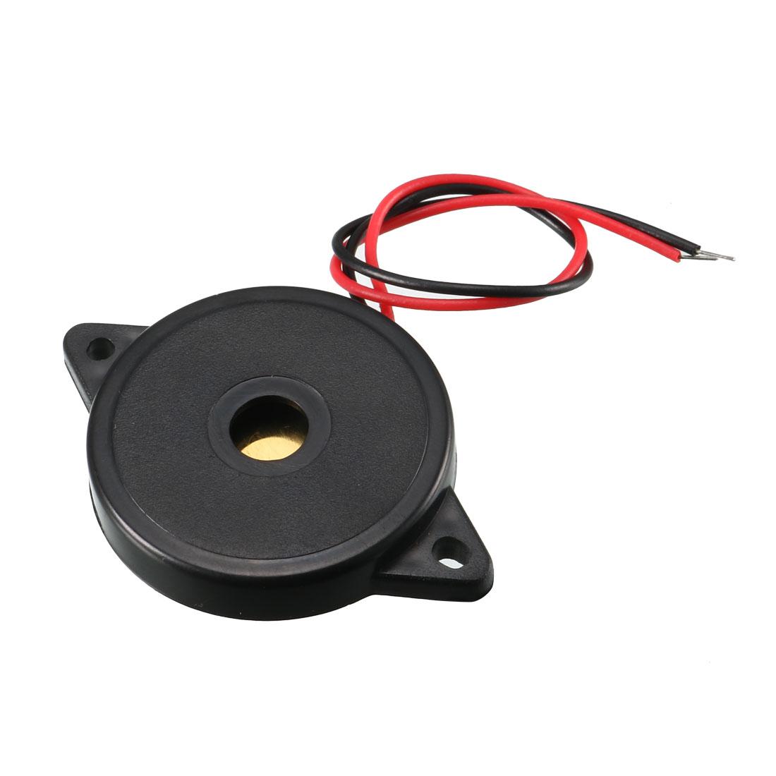 5 Pcs DC 1-30V 80dB Sound Electronic Buzzer Alarm Black 30 x 5mm