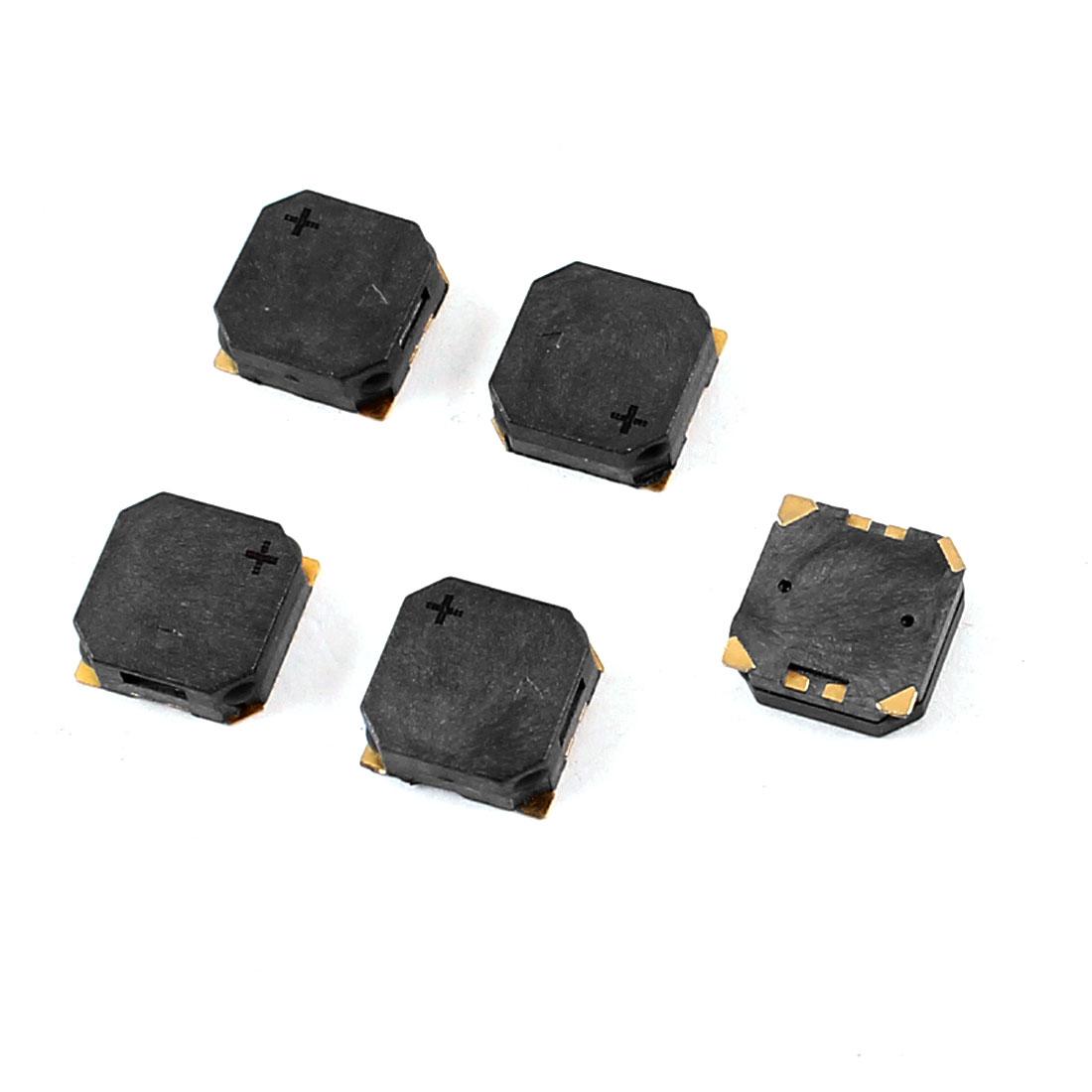 5pcs 8.5mm x 8.5mm x 3mm Square Shape SMD Passive Buzzer DC 3.6V 90mA 2500 Hz