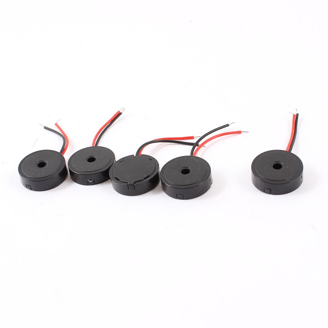 5 Pcs DC 12V 80dB Industrial Continuous Sound Passive Electronic Buzzer Alarm Passive Black