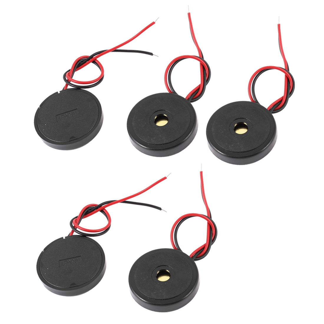 5 Pcs DC 1-30V 90dB Sound Passive Electronic Buzzer Alarm Black 30 x 6mm