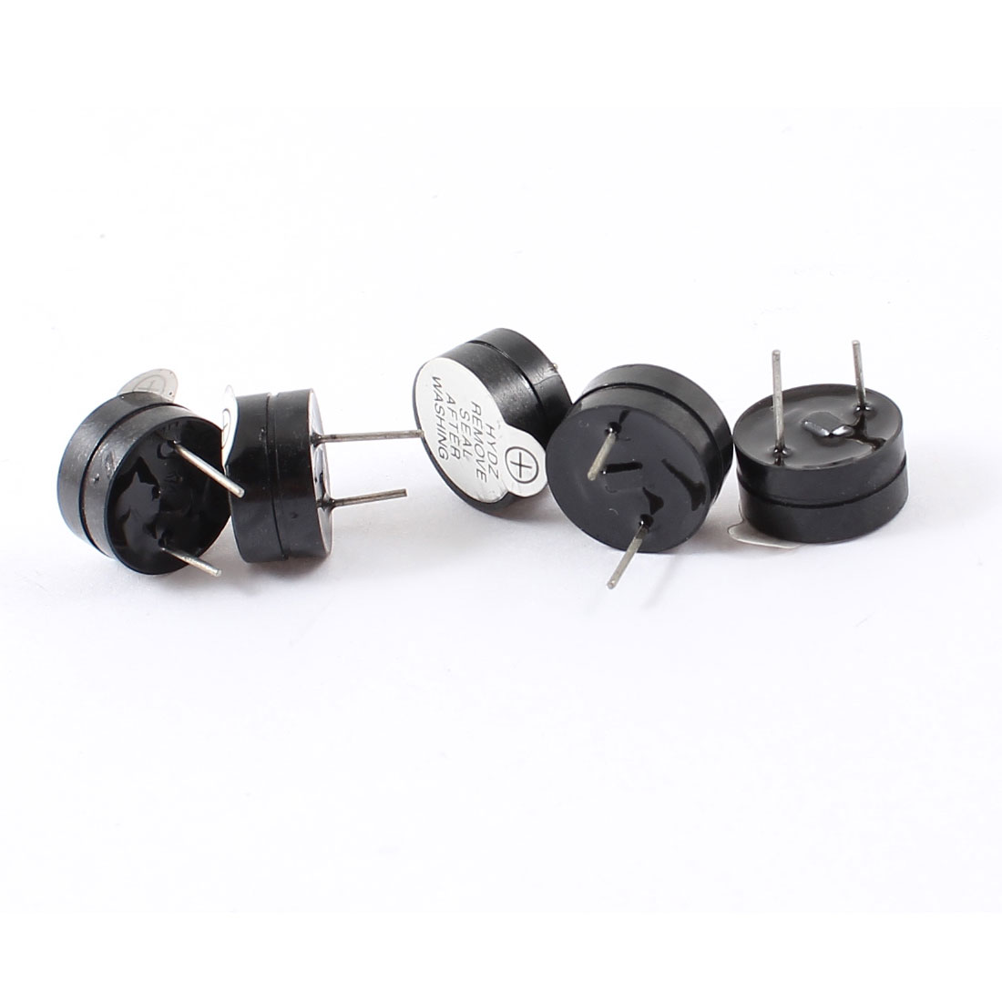 5pcs DC 12V 30mA Industrial Electronic Continuous Sound Buzzer Black 12x6.5mm