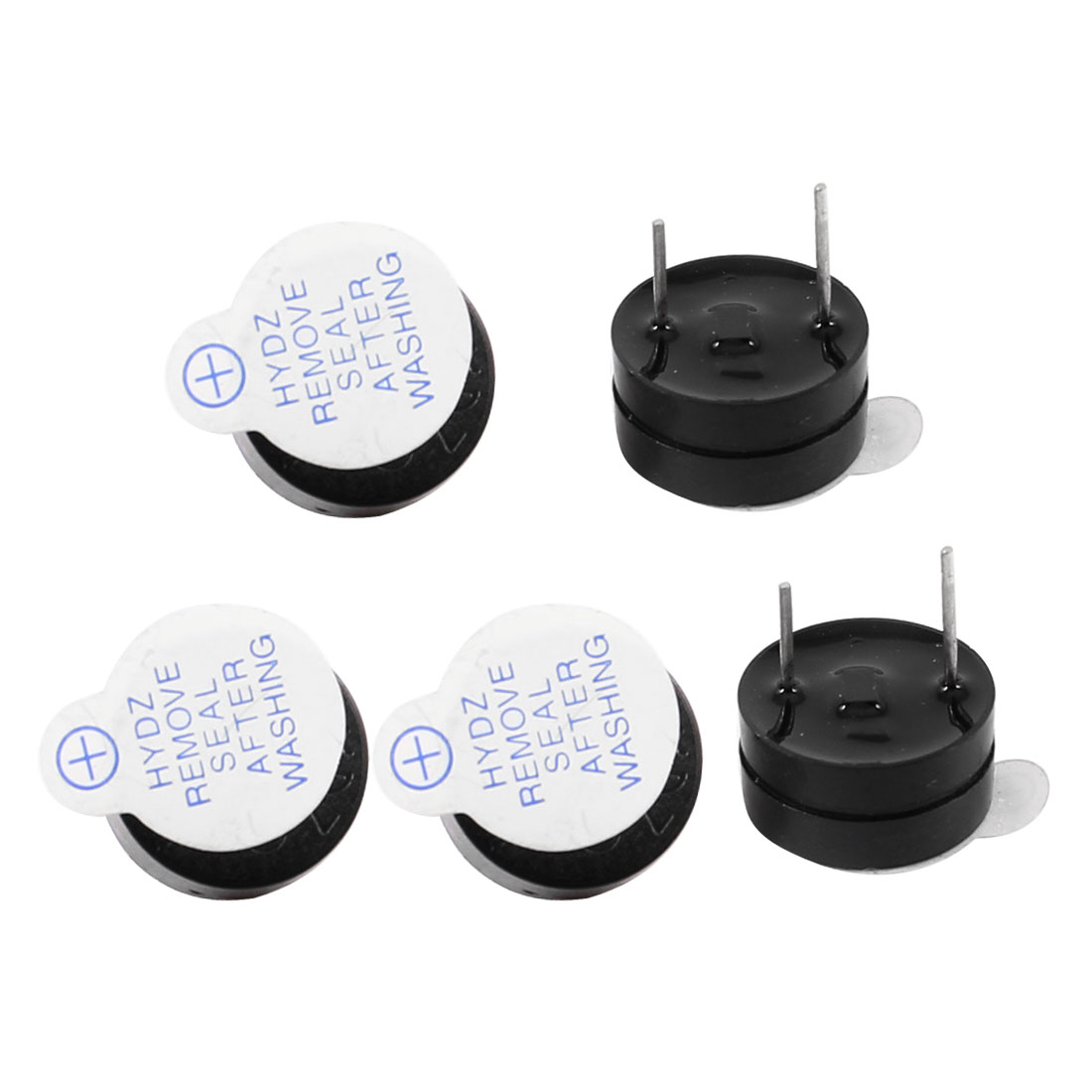 5pcs DC 5V 30mA Industrial Electronic Continuous Sound Buzzer Black 12x6.5mm