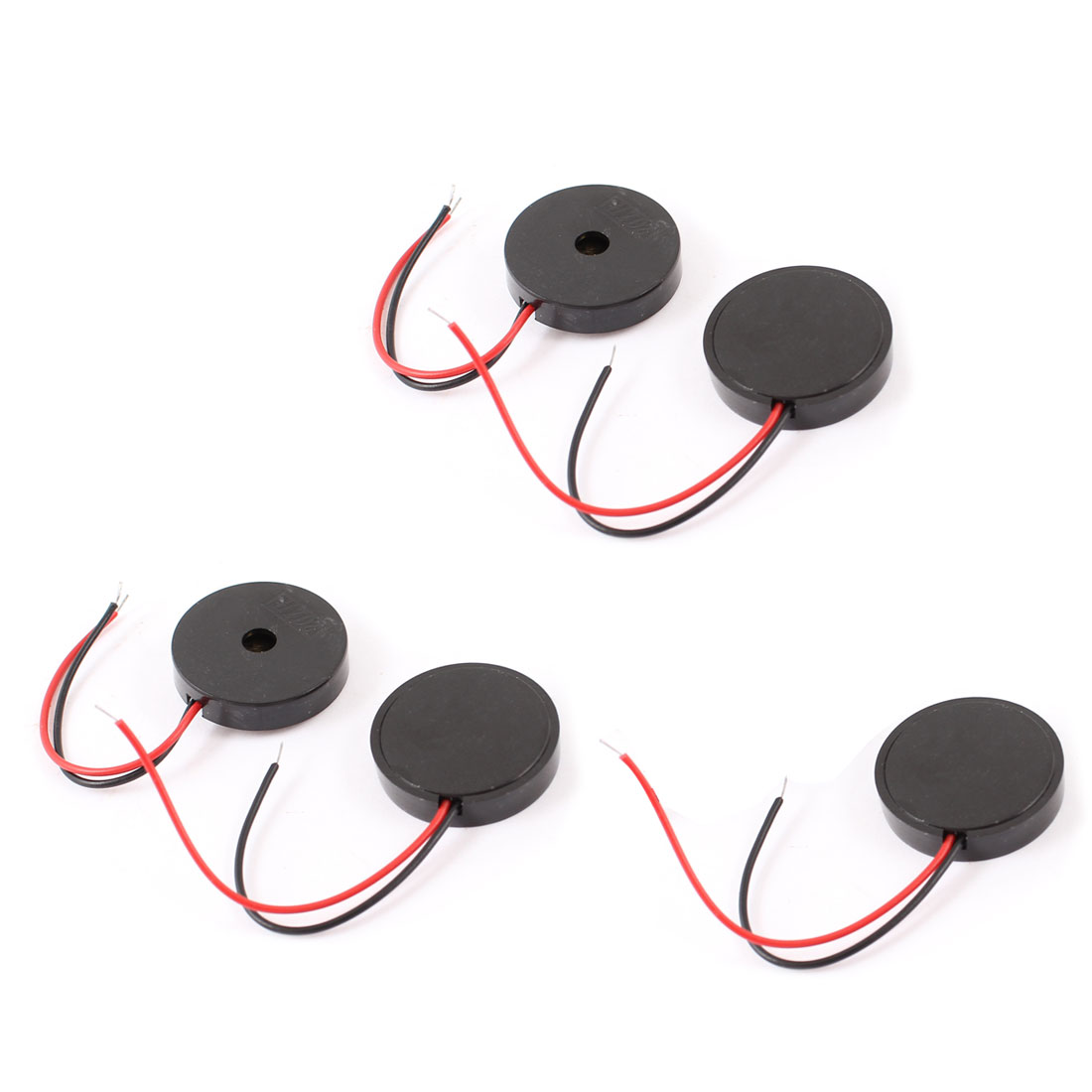 5 Pcs DC 2-28V 80dB Sound Electronic Passive Buzzer Alarm Black 22 x 4.5mm