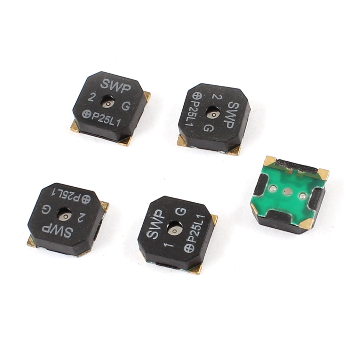 5 Pieces 8.5mm x 8.5mm x 3mm Black Square SMT SMD Buzzer DC 3/5V 100mA