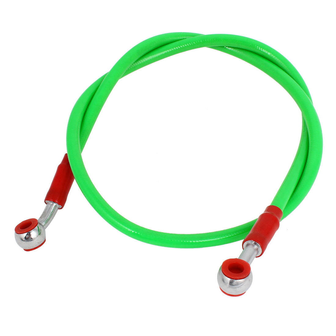 "90cm 35"" Long Green Rubber Cover Steel Brake Line for Motorcycle"