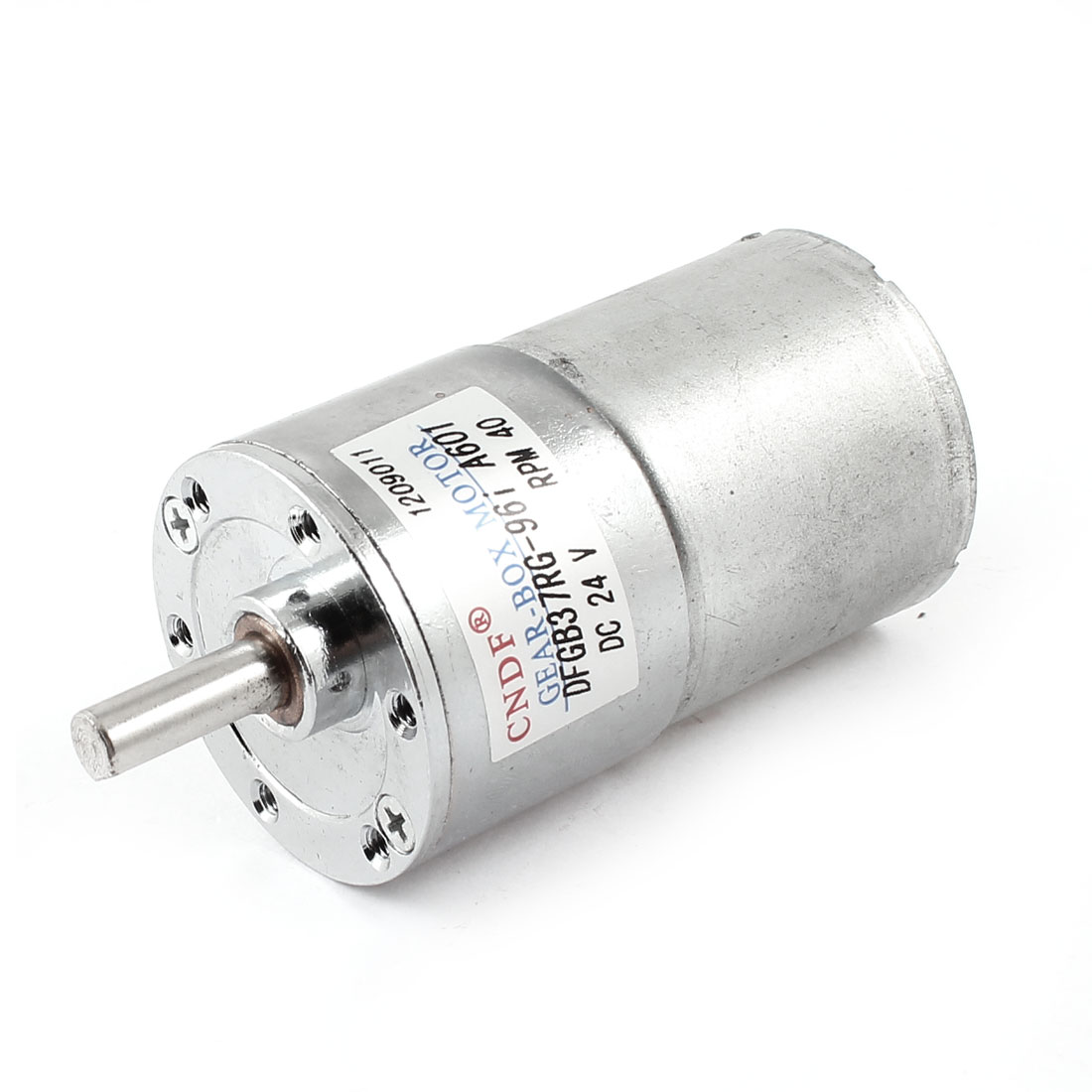 6mm Shaft 35m Body Diameter 2 Terminal Cylinder Shape Gear Box Motor 40 RPM DC 24V