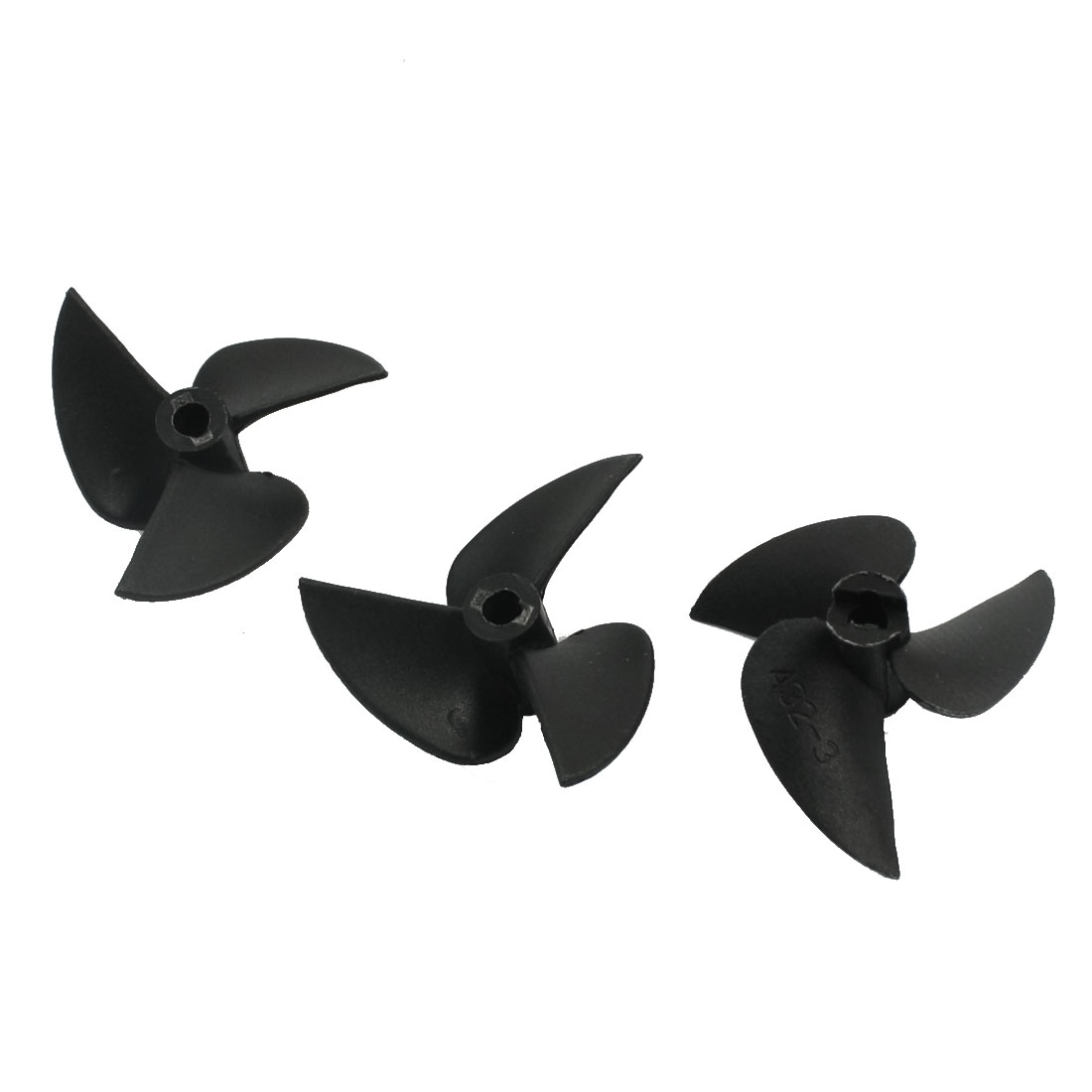 "3Pcs 32mm Dia P/D 1.4 Black Plastic 3 Vane s CW Positive Rotating Propeller Prop 3214 for 1/8"" Shaft RC Boat Ship Model"