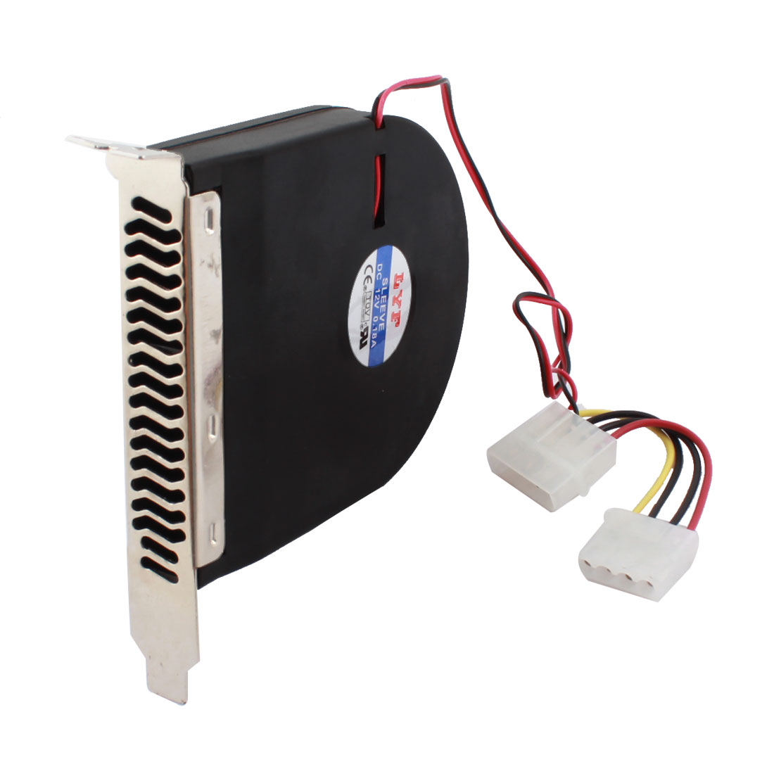 DC 12V 0.18A Black Plastic Housing Industrial Blower CPU Case PCI Slot DC Brushless Fan Ventilator Cooler