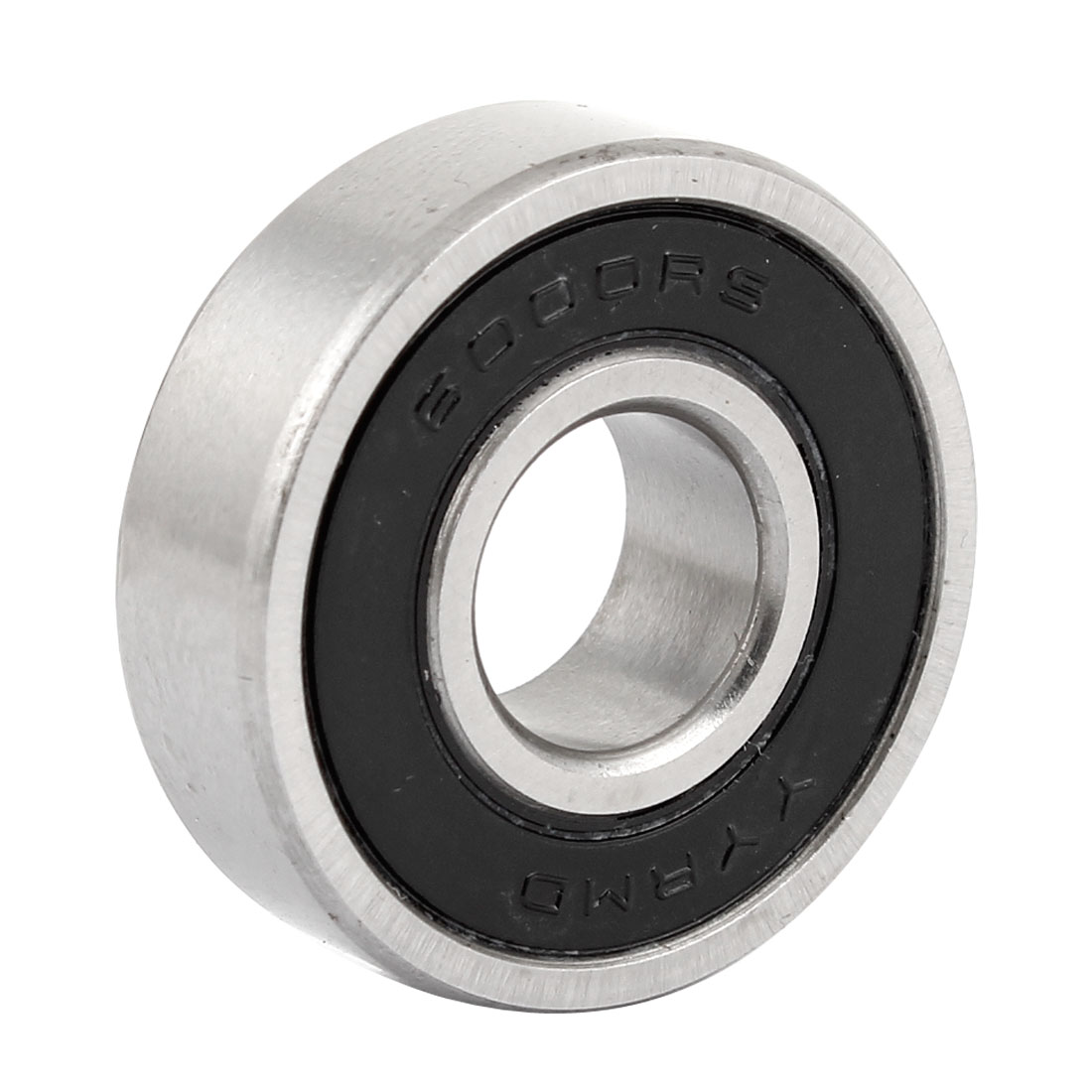 6000RS Sealed Deep Groove Ball Bearing 10mm Inner Dia Black Silver Tone