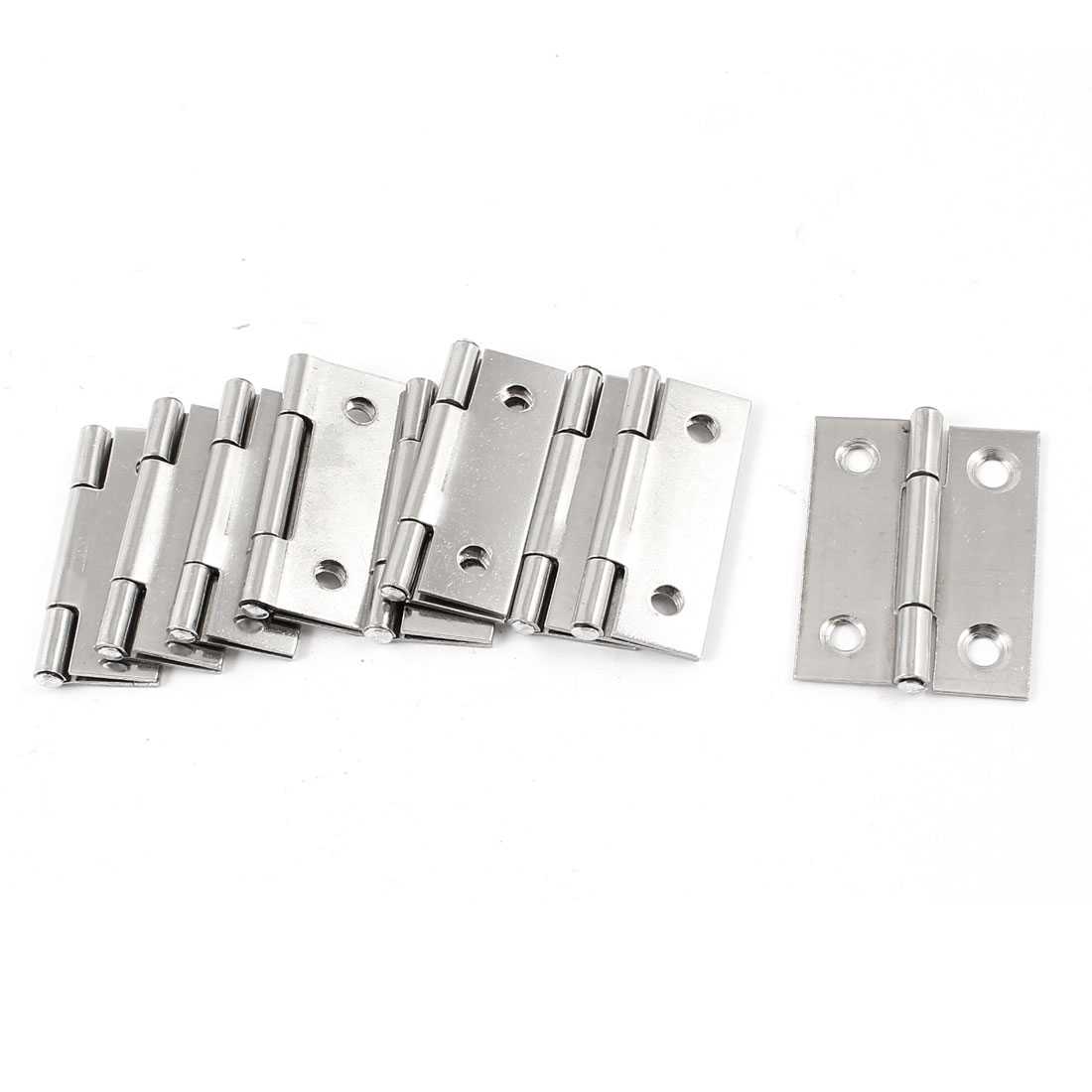 "9 Pcs Stainless Steel 4 Mounting Holes Door Hinges Replacement 1.8"" Length"