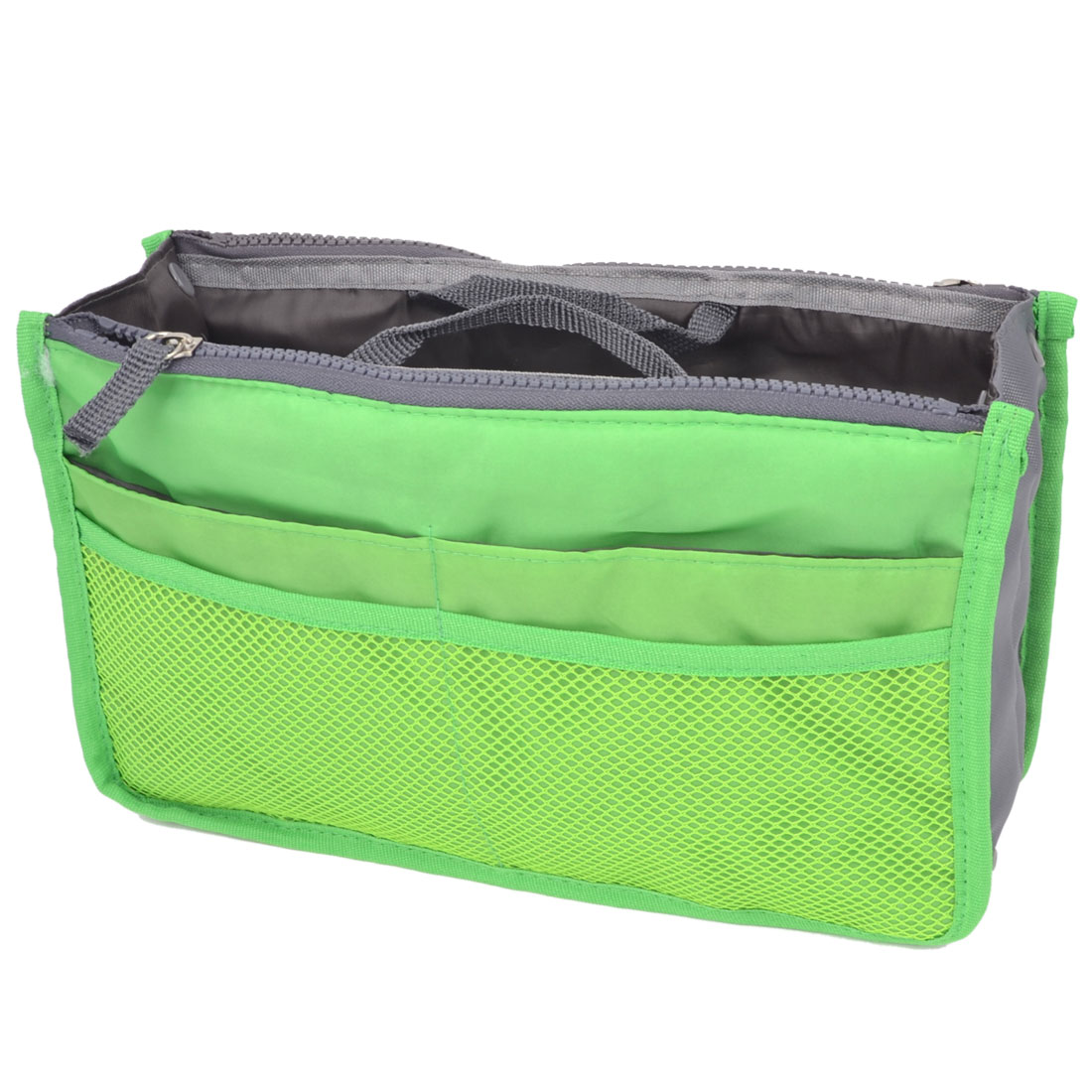 Travel Portable Netty Design Inner Zipper Storage Bag Organizer Green