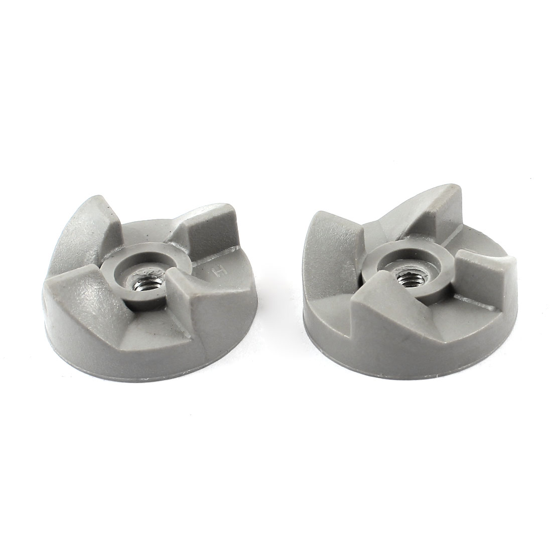 Home Kitchen Aid Blender Rubber Coupler Clutch 30mm Dia 4 Teeth Gray 2 Pcs