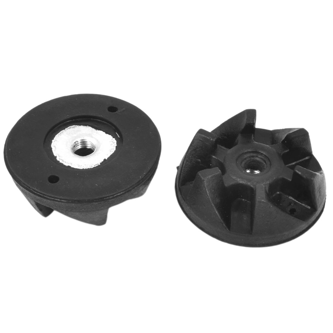 Home Kitchen Aid 6-Teeth Rubber Coupling Clutch Gear Black 2pcs 36mm Dia for Food Blender