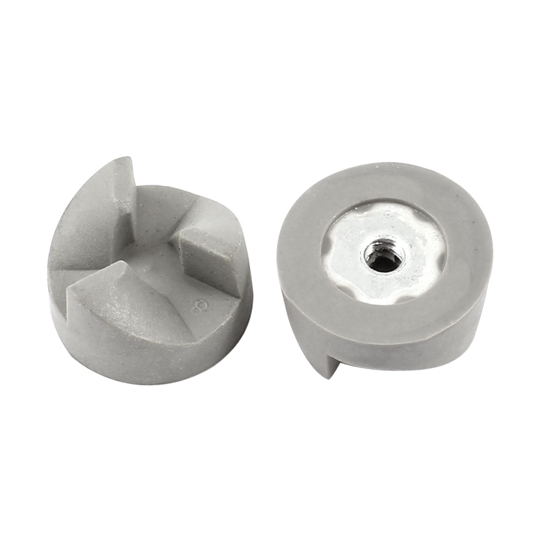 Home Kitchen Aid Blender Rubber Coupler Clutch 25mm Dia 3 Teeth Gray 2 Pcs