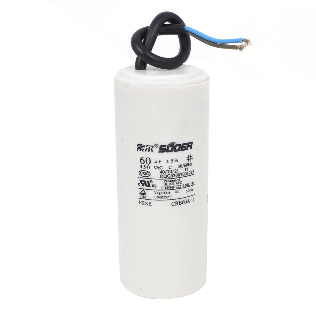 Washing Machine Washer Polypropylene Film Wire Motor Running Capacitor AC 450V 60uF CBB60