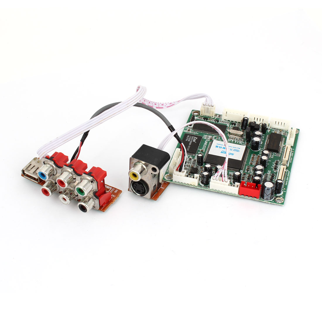 USB 7 RCA Port Universal Rectangle Mini DVD MPEG Card Decoder Board