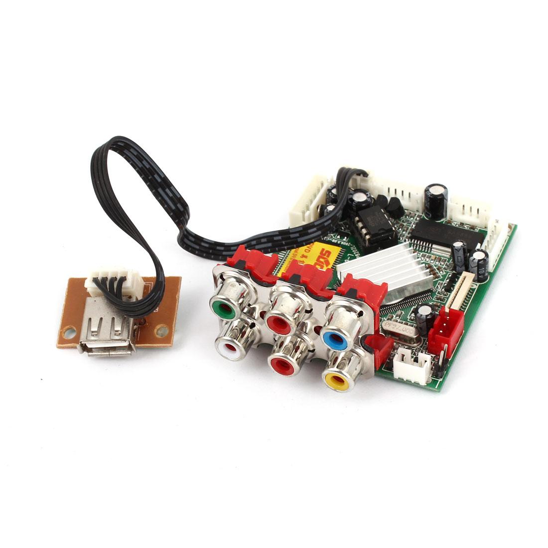 DVD Player 6 RCA 1 USB Port Mini Universal MPEG Card Decoder Board