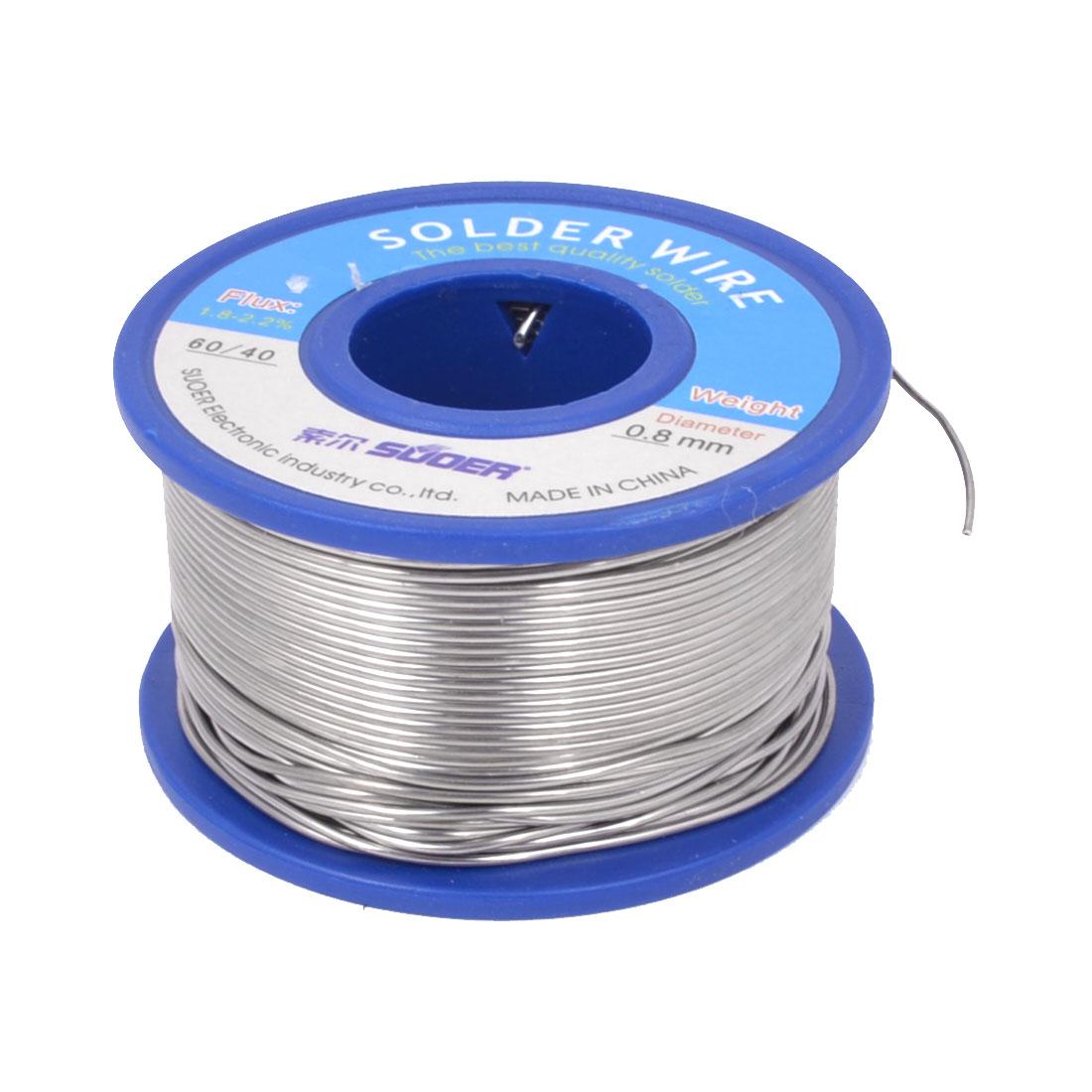 0.8mm 200g 60/40 Tin Lead 1.8-2.2% Flux Solder Core Wire Soldering Welding Rosin Reel Spool