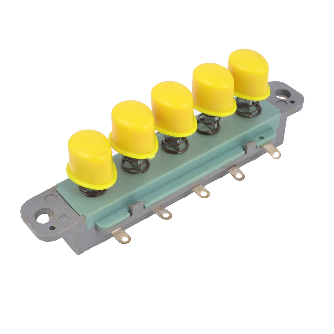 AC 250V 1A 5 Yellow Button Piano Type Key Switch for Kitchen Range Hood