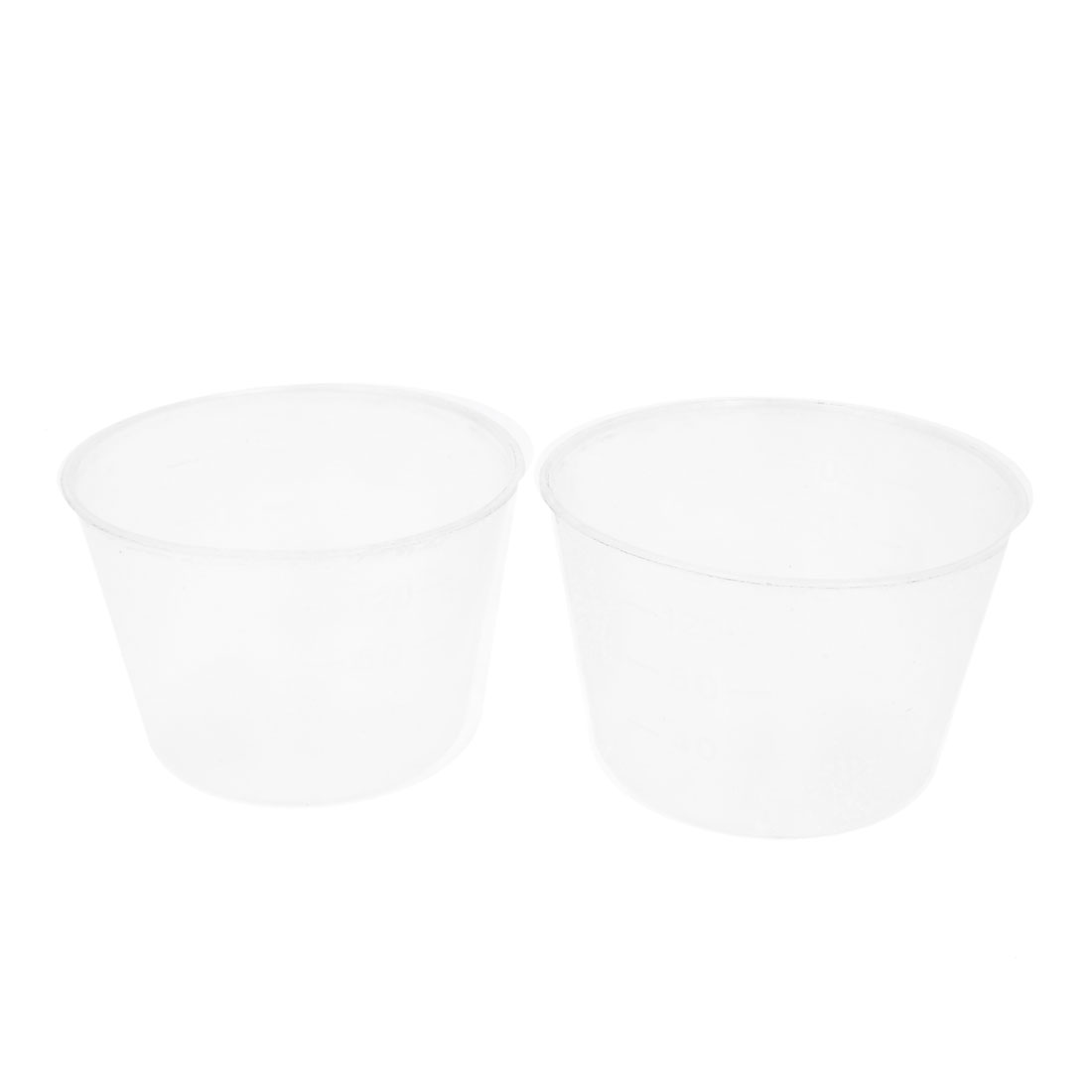 2pcs Clear White Plastic 120ml Electric Cooker Rice Measuring Cup