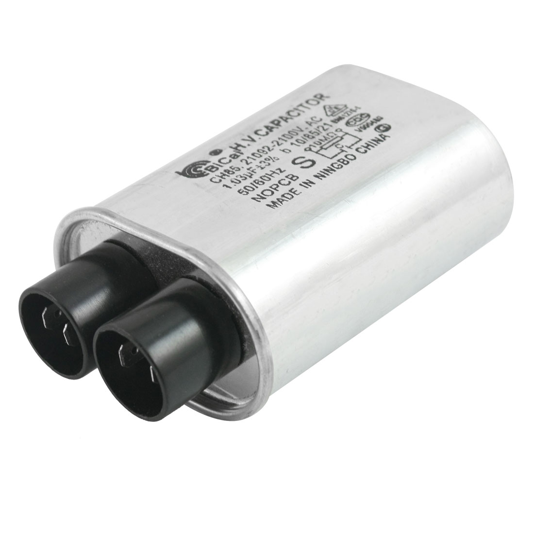 AC 2100V 1.03uF 3%b 50/60Hz Cylindrical High Voltage Microwave Oven Capacitor