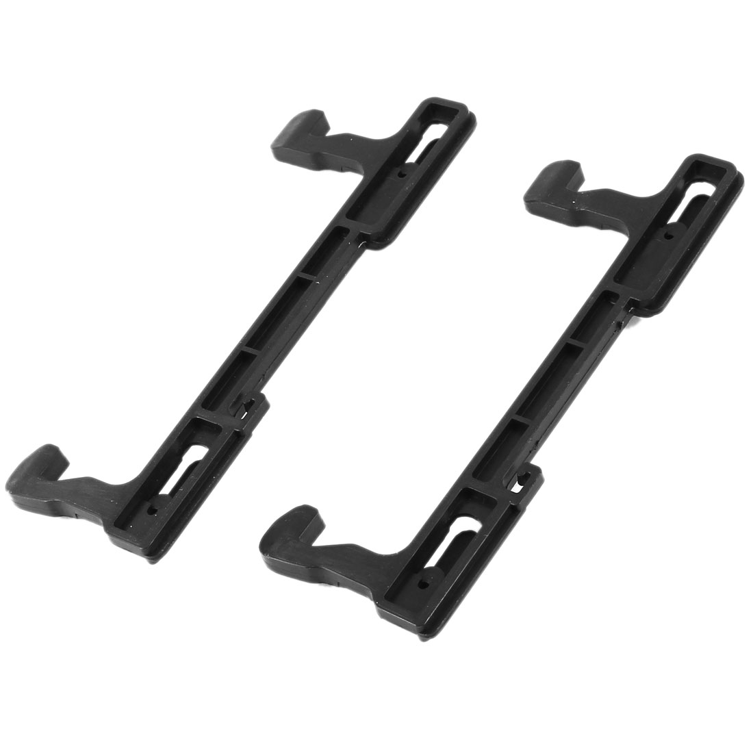 Kitchen Black Plastic Microwave Oven Door Latch 13.2cm Long 2 Pcs for Galanz