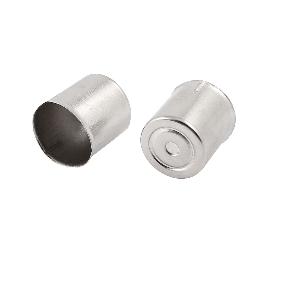 2 Pcs Home Kitchen Cylinder Shaped Microwave Magnetron Cap Silver Tone