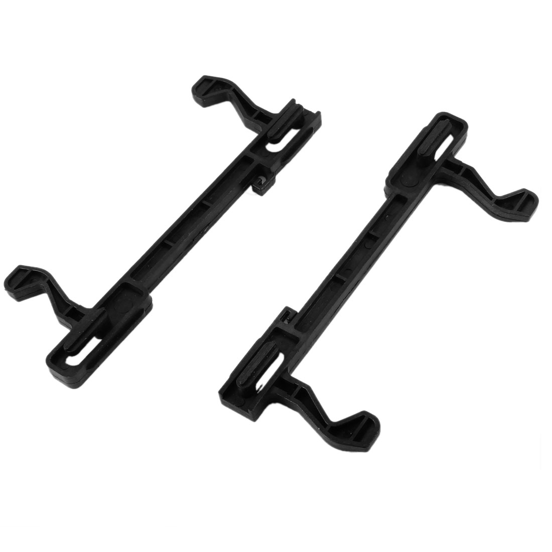 "Kitchen Black Plastic Microwave Oven Door Latch 5.2"" Long 2 Pcs for Haier"