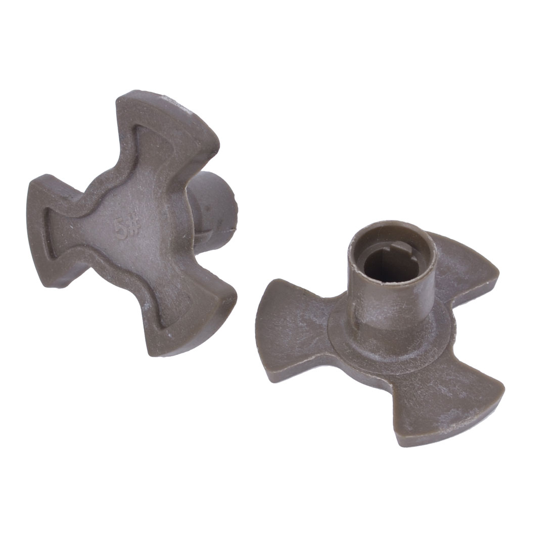 6mm Hole Khaki Plastic Microwave Oven Turntable Coupler 2 Pieces